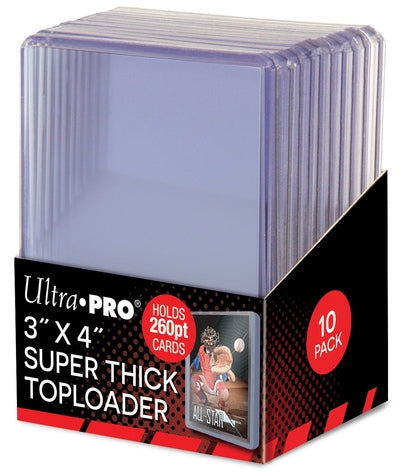 Ultra Pro Top Loaders - 3x4 Super Thick 260pt (10-Pack Combo) Ultra Pro | Cardboard Memories Inc.