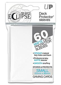 Eclipse Matte Deck Protectors - Small Card Sleeves 60ct - White Ultra Pro | Cardboard Memories Inc.