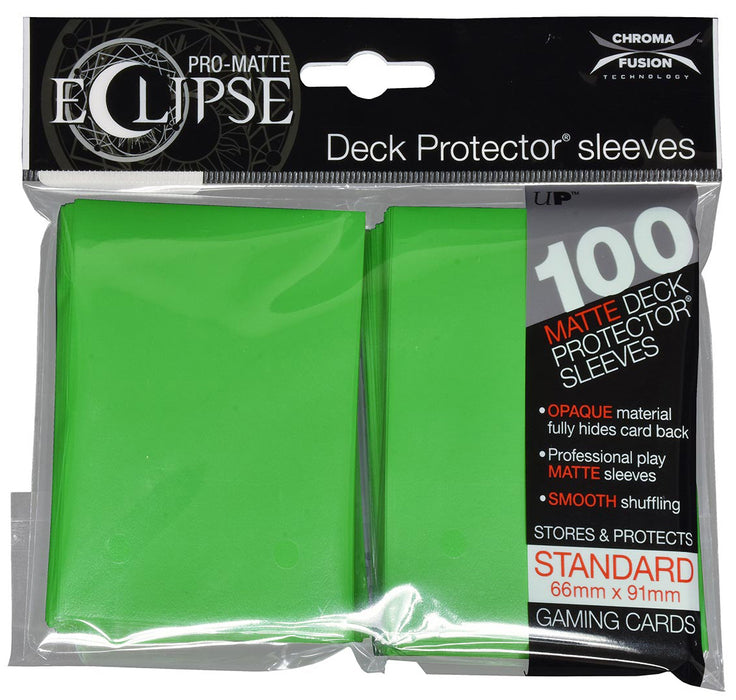 Ultra Pro - Eclipse Matte Deck Protectors - Standard Size - 100 Count Lime Green