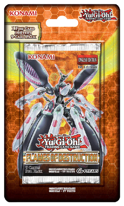 Yu-Gi-Oh! Flames Destruction Blister Pack Konami | Cardboard Memories Inc.
