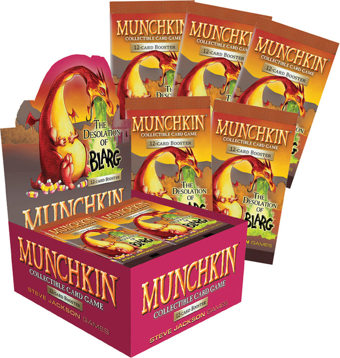 Steve Jackson Games - Munchkin Collectible Card Game - Desolation of Blarg - Booster Box