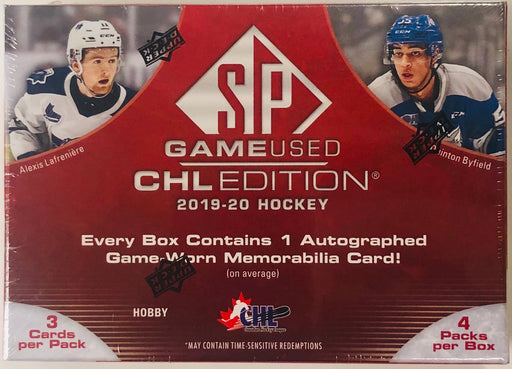 Upper Deck - 2019-20 - Hockey - SP Game Used - CHL Edition - Hobby Box