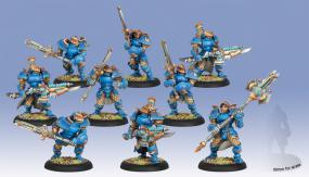 Warmachine- Cygnar Stormblade Infantry PIP 31097 Privateer Press | Cardboard Memories Inc.