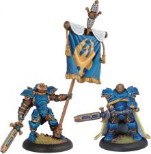 Warmachine - Cygnar - Storm Blade Lieutenant and Standard - PIP 31023 Privateer Press | Cardboard Memories Inc.