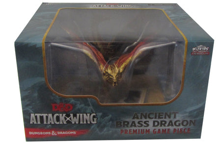 Dungeons & Dragons Attack Wing - Ancient Brass Dragon Premium Game Piece Wizkids | Cardboard Memories Inc.