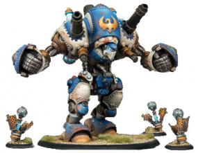 Warmachine- Cygnar Stormwall & Lightning Pods Colossal & Solos PIP 31050 Privateer Press | Cardboard Memories Inc.