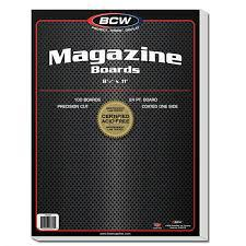 BCW Magazine Boards - Package of 100 Case of 10 BCW | Cardboard Memories Inc.