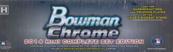 2014 Bowman Chrome Baseball Mini Complete Set Topps | Cardboard Memories Inc.