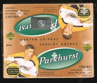 2006-07 Parkhurst Hockey Retail Box Upper Deck | Cardboard Memories Inc.