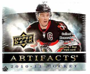 2010-11 Upper Deck Artifacts Hockey Hobby Box Upper Deck | Cardboard Memories Inc.