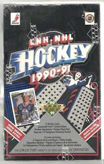 1990-91 Upper Deck Hi # Hockey French Hobby Box Upper Deck | Cardboard Memories Inc.