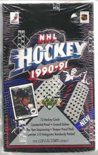 1990-91 Upper Deck Low Number Hockey Hobby Box Upper Deck | Cardboard Memories Inc.