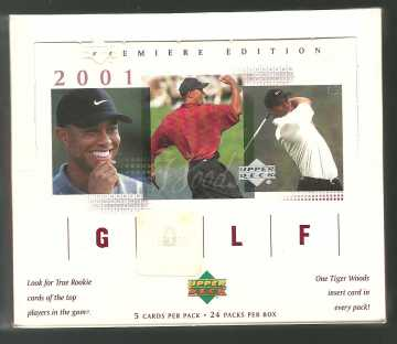 2001 Upper Deck Golf Retail Box Upper Deck | Cardboard Memories Inc.