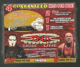 2008 Tristar TNA Cross the Line Wrestling Hobby Box Tristar | Cardboard Memories Inc.