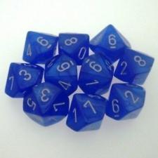 Chessex Dice - Velvet Blue with Silver - Set of 10 D10 (CHX 27276) Chessex | Cardboard Memories Inc.