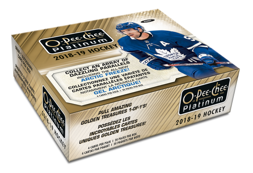 2018-19 Upper Deck - O-Pee-Chee Platinum Hockey - Hobby Master Case of 16 Boxes