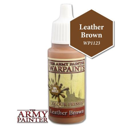 Army Painter Warpaints - Leather Brown WP1123 The Army Painter | Cardboard Memories Inc.