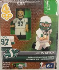 CFL OYO Saskatchewan Roughriders John Chick Oyo Figures | Cardboard Memories Inc.