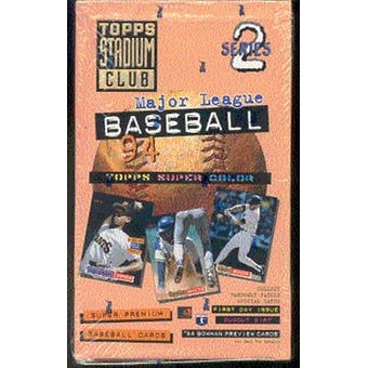 Topps - 1994 - Baseball - Stadium Club - Series 2 - Hobby Box