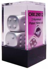 Chessex Dice - Aluminum Plated - Set of 2 D6 (CHX 29012) Chessex | Cardboard Memories Inc.