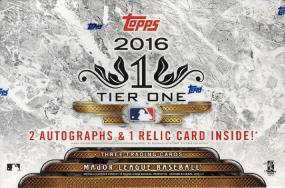 2016 Topps Tier One Baseball Hobby Box Topps | Cardboard Memories Inc.