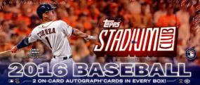 2016 Topps Stadium Club Baseball Hobby Box Topps | Cardboard Memories Inc.