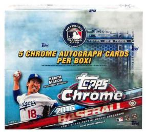 2016 Topps Chrome Baseball Jumbo Box Topps | Cardboard Memories Inc.