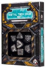 Tech Dice Assorted Set - Metal Q-Workshop | Cardboard Memories Inc.