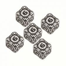 Tech Dice D6 Set - Metal Q-Workshop | Cardboard Memories Inc.