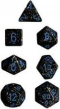 Chessex Dice - Speckled Blue Stars - Set of 7 (CHX 25338) Chessex | Cardboard Memories Inc.