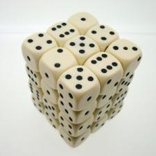 Chessex Dice - Opaque Ivory with Black - Set of 36 D6 (CHX 25800) Chessex | Cardboard Memories Inc.