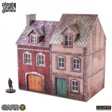 Plast Craft Games - EWAR - Semi-Detached Building Color Edition Plast Craft | Cardboard Memories Inc.