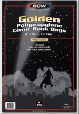 BCW Golden Mylar Comic Book Bags - 2 Mil BCW | Cardboard Memories Inc.