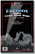 BCW Current Mylar Comic Book Bags - 4 Mil BCW | Cardboard Memories Inc.