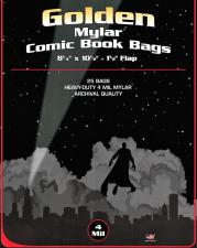 BCW Golden Mylar Comic Book Bags - 4 Mil BCW | Cardboard Memories Inc.