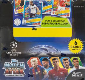 2016-17 Topps Match Attax Soccer Booster Box Topps | Cardboard Memories Inc.