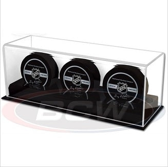 BCW Acrylic Triple Puck Display Holder BCW | Cardboard Memories Inc.