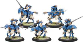 Warmachine- Cygnar Storm Lances Storm Knight Cavalry Unit PIP 31114 Privateer Press | Cardboard Memories Inc.