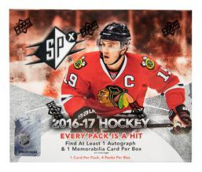 2016-17 Upper Deck SPX Hockey Hobby Box Upper Deck | Cardboard Memories Inc.