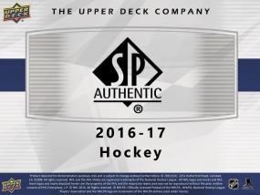 2016-17 SP Authentic Hockey Hobby 16 Box Master Case Upper Deck | Cardboard Memories Inc.