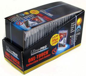 3 x 5 One Touch UV Protected Magnetized Card Holder - 35pt Box Ultra Pro | Cardboard Memories Inc.