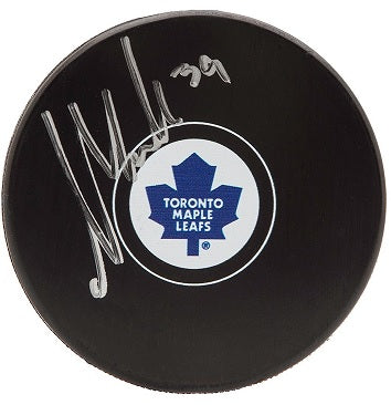 Upper Deck Authenticated - William Nylander Autographed Hockey Puck (Pre-Order) Upper Deck | Cardboard Memories Inc.