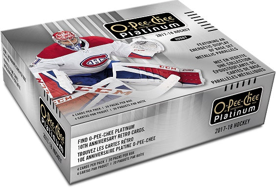 2017-18 Upper Deck O-Pee-Chee Platinum Hockey Hobby Box Upper Deck | Cardboard Memories Inc.