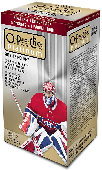 2017-18 Upper Deck O-Pee-Chee Platinum Hockey Blaster Box Upper Deck | Cardboard Memories Inc.