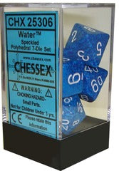Chessex Dice - Speckled Water - Set of 7 (CHX 25306) Chessex | Cardboard Memories Inc.