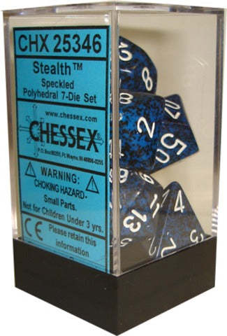 Chessex Dice - Speckled Stealth - Set of 7 (CHX 25346) Chessex | Cardboard Memories Inc.