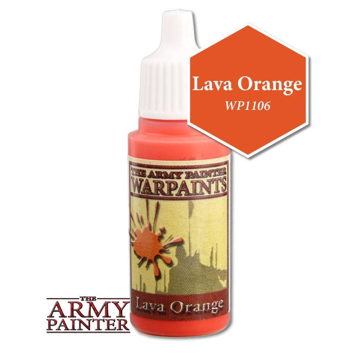 Army Painter Warpaints - Lava Orange The Army Painter | Cardboard Memories Inc.