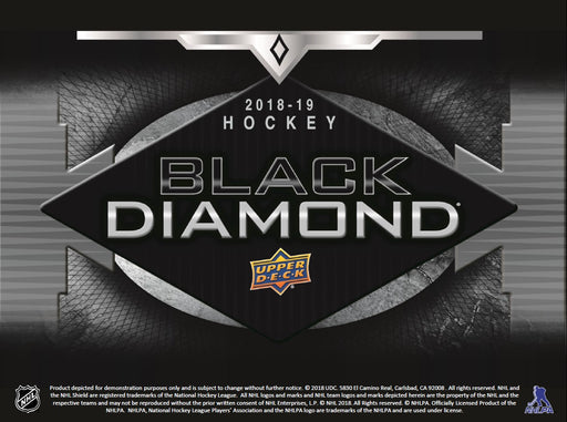 2018-19 Upper Deck Black Diamond Hockey Hobby 5 Box Inner Case