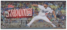 2015 Stadium Club Baseball Hobby Box Topps | Cardboard Memories Inc.