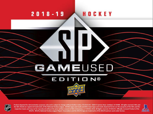 2018-19 Upper Deck SP Game Used Hobby Box